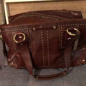Large coach limited edition rare find dark brown